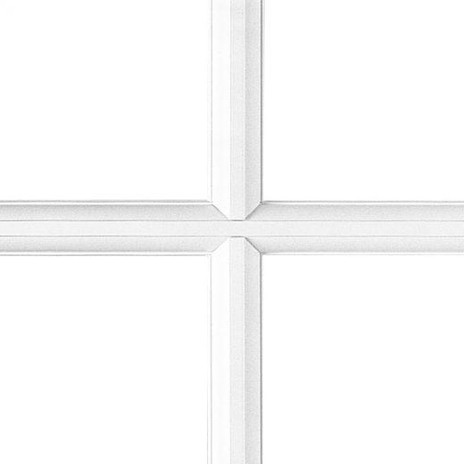 Croisillon collé – blanc  (avec pareclose à pente) 28 mm