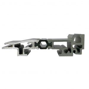 Seuil aluminium avec rupture de pont thermique 19 mm (Pour personne à mobilité réduite)