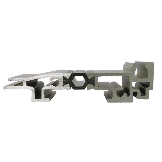 Seuil aluminium à rupture de pont thermique d'une hauteur de 19 mm compatible norme PMR