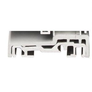 Seuil aluminium recouvert d'un capot PVC gris d'une hauteur de 17 mm compatible norme PMR
